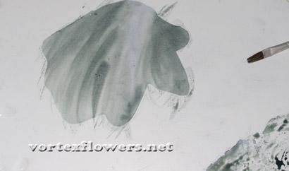 двойные листья для цветов из ткани мастер-класс