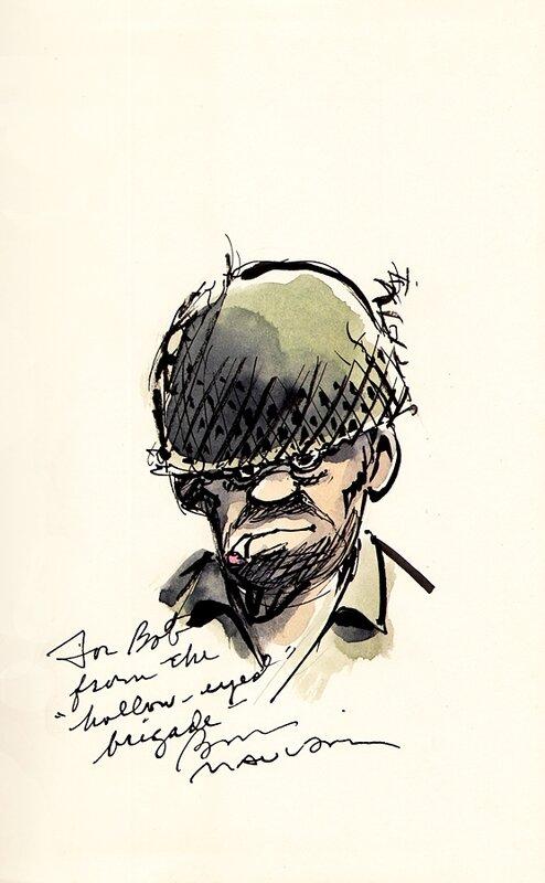 Ink and Watercolor Drawing of Joe