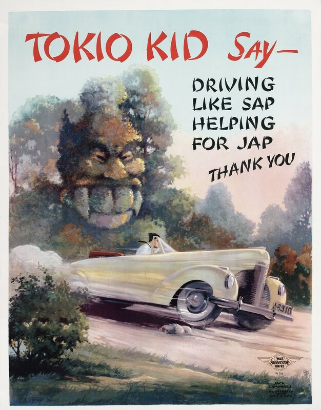 Tokio Kid say: Driving like sap helping for Jap, thank you!