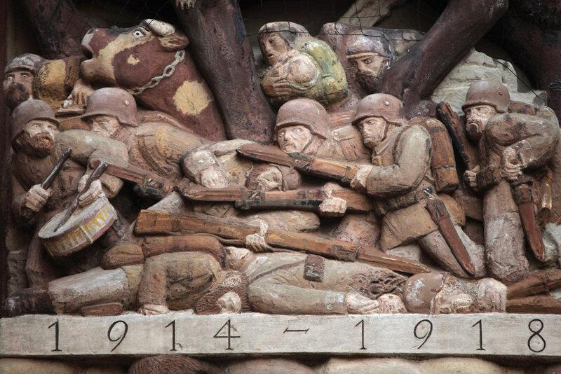 Мемориал павшим немецким солдатам в городе Эттлинген в земле Баден-Вюртемберг