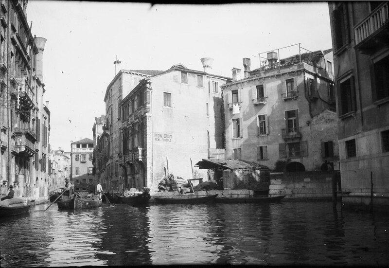 Венеция. Гондолы, 1900