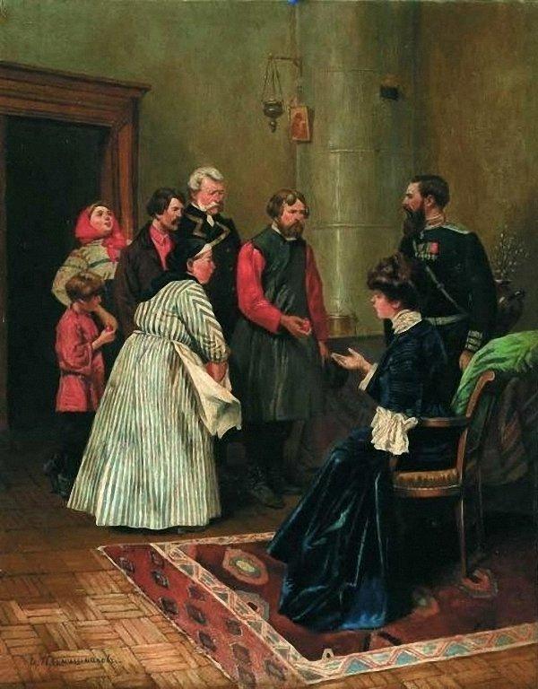 Илларион Михайлович Прянишников (1840-1894) - Пасха, 1885 г. //  Illarion Pryanishnikov - Easter, 1885