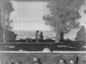 """""""Наполеон (артист Шмидгоф) под Москвой - сцена из спектакля """"Картины 1812 года""""."""
