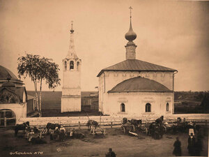 Вид на Входо-Иерусалимскую церковь (постройка 1707 г.). Суздаль г.