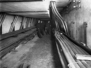 Вывод подземных кабелей.