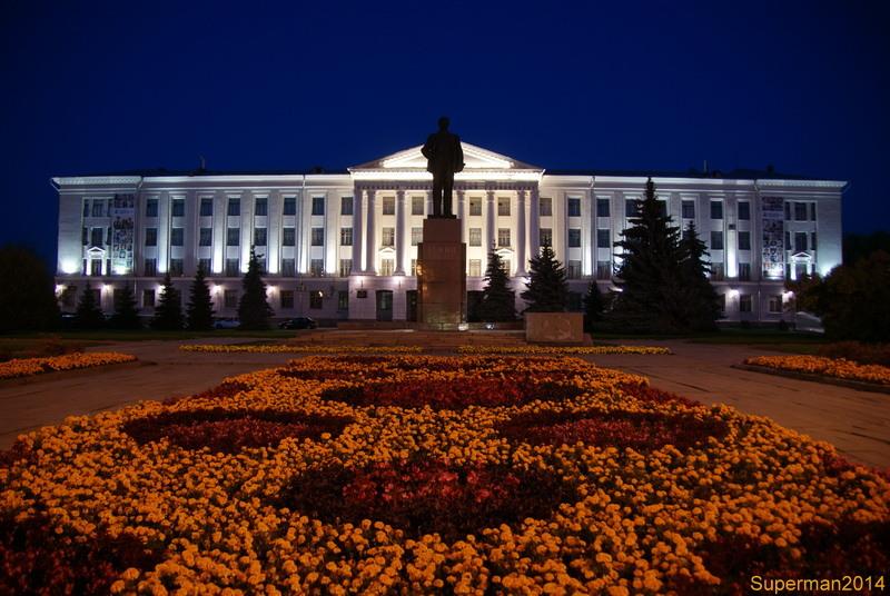 ночной Псков