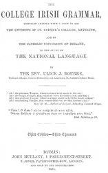 Книга The college Irish grammar