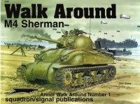 Книга Armor Walk Around Number 1: M4 Sherman.