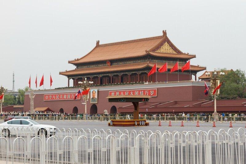Ворота Тяньаньмэнь в Пекине