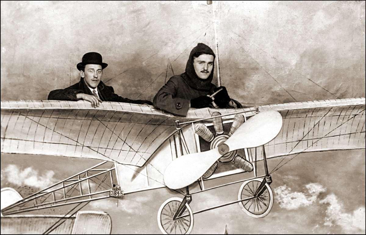 Художественные фоны для фотографий авиационной и воздухоплавательной тематики (9)