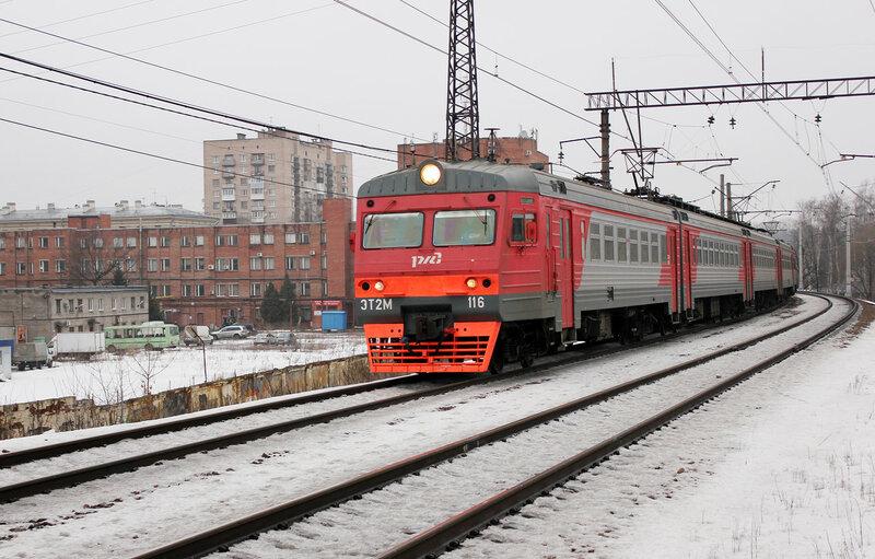 ЭТ2М-116, Перегон Ланская - Санкт-Петербург Финляндский