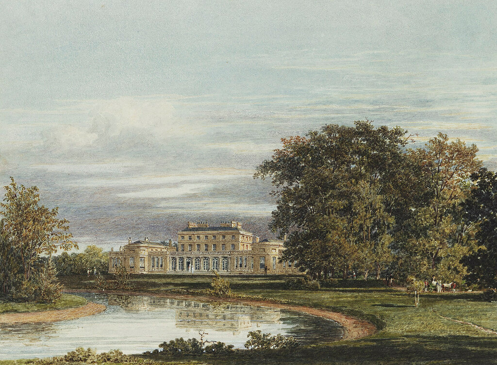 Frogmore House: The garden front