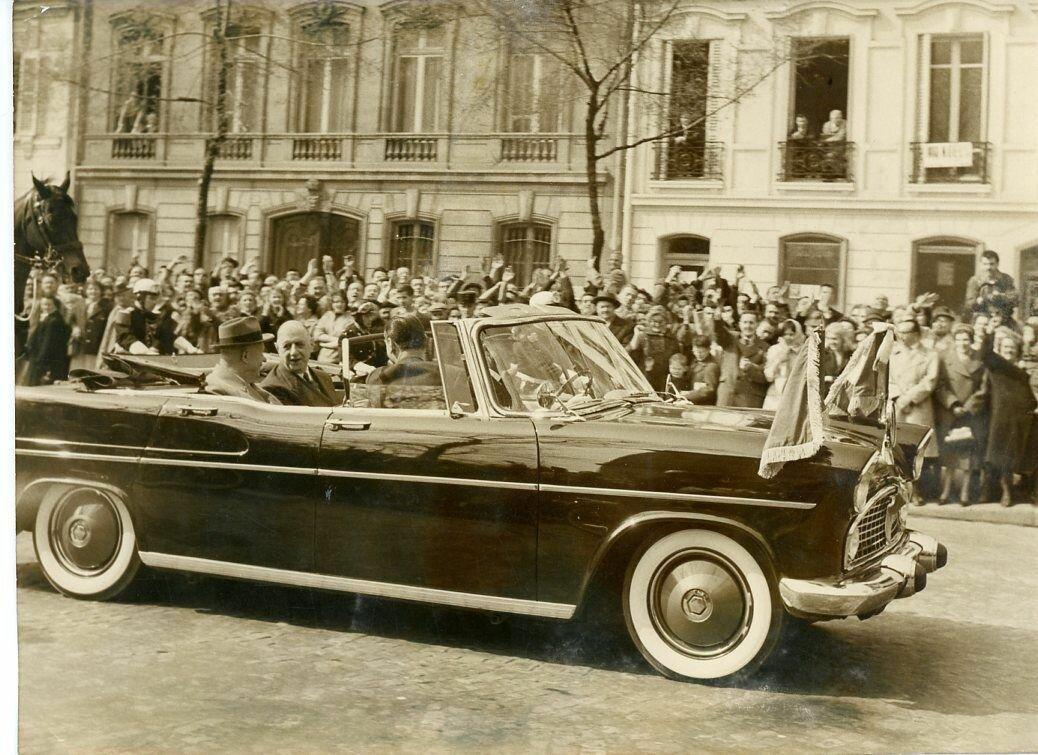 1960. Хрущев и Де Голль в Париже