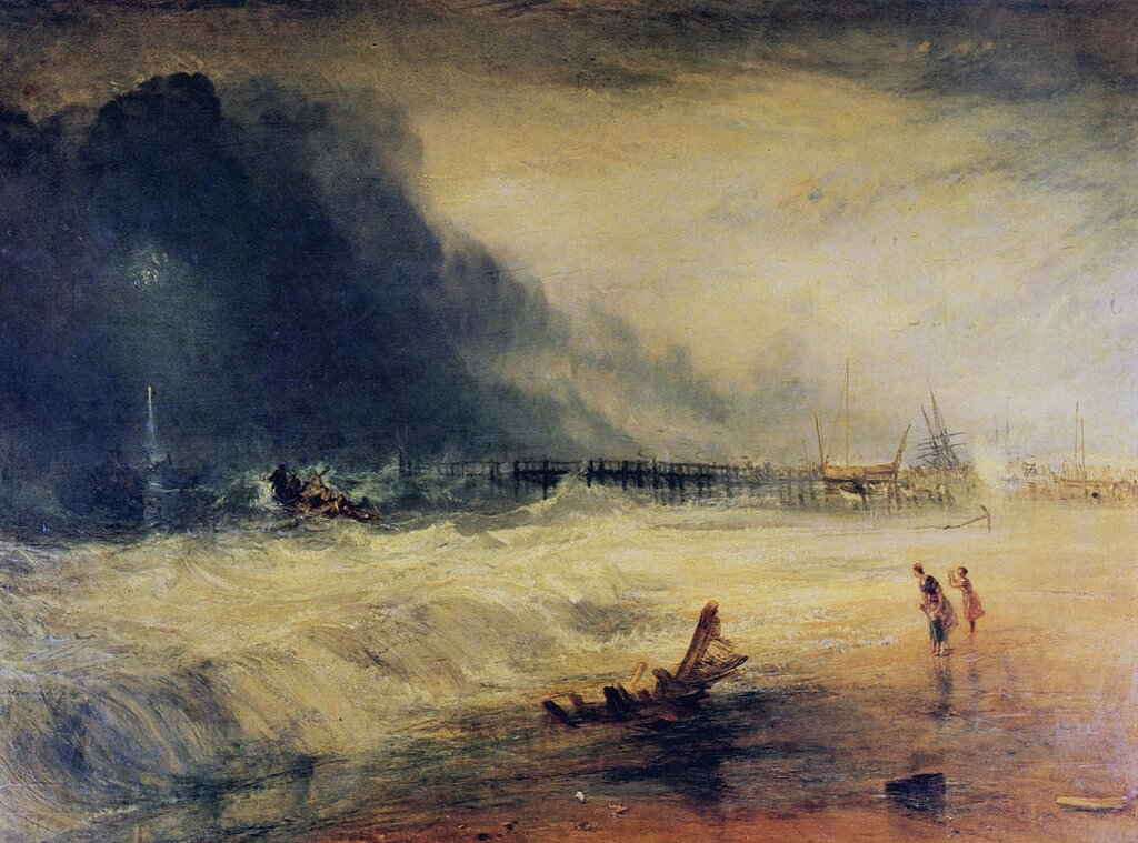 Life-Boat and Manby Apparatus going off to a Stranded Vessel making Signal of Distress, 1831.jpg