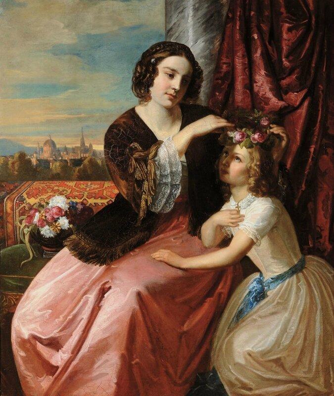 Портрет графини с дочерью_138 х 118_х.,м._Частное собрание