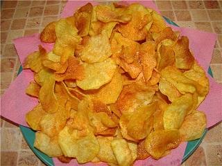 Как сделать домашние чипсы в микроволновке рецепт с фото