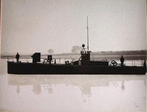 Общий вид одного из десяти построенных в 1909 г.моторных посыльных судов(типаШтык,Пуля,Сабля,Копьё,Палаш,Шашка,Рапира,Пистолет,Пика,Кинжал.)