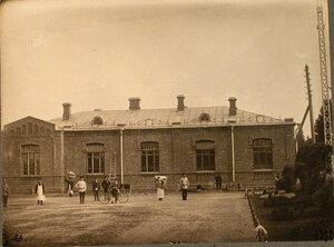 Вид здания, где находился приёмный покой станции Гатчина-Варшавская.