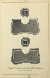 506. Чепраки и Чушки Пехотных Обер и Штаб-Офицеров, с 1764 по 1796 год.