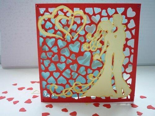 Контурная свадебная открытка. Мастер-класс