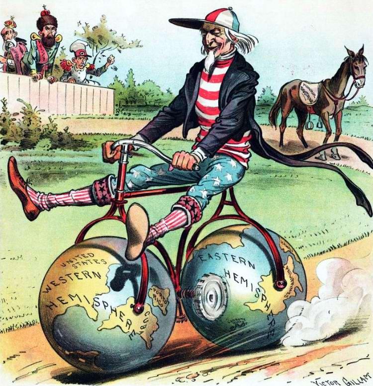 По инерции с горки. Старый конь (Доктрина Монро) стал слишком медленным для дяди Сэма (1899 год)