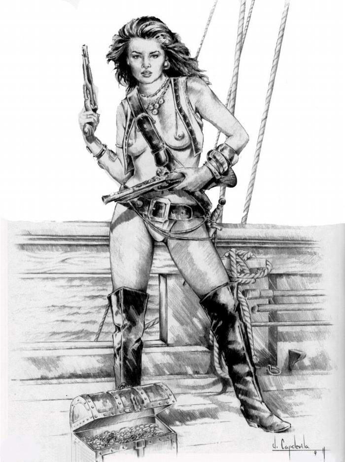 Графика: истории из жизни девушек - пираток (43)