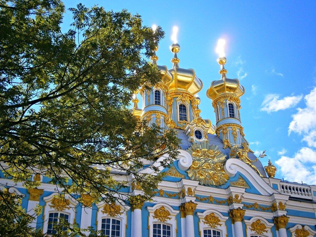 Купола церкви Екатерининского дворца