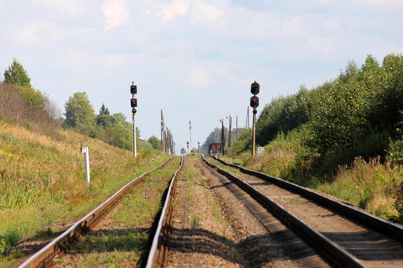 Поезд на Псков в мареве