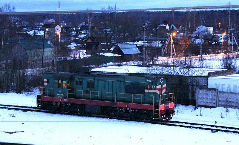 ЧМЭ3-6775 на станции Мга