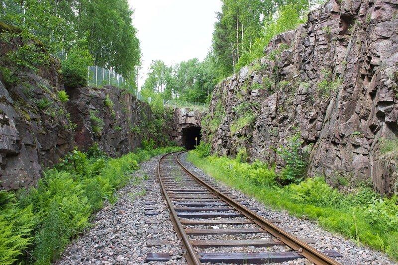 туннель на второстепенной железной дороге за Лаппеенрантой