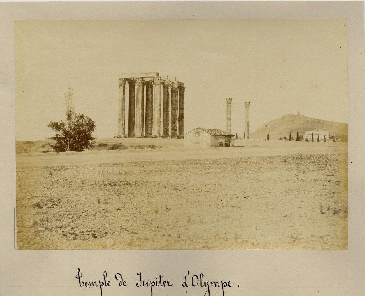 1875. Акрополь. Храм Зевса Олимпийского
