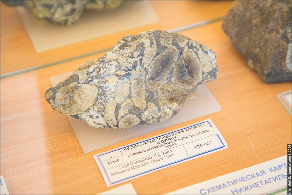 Уральский геологический музей. Выставка платина