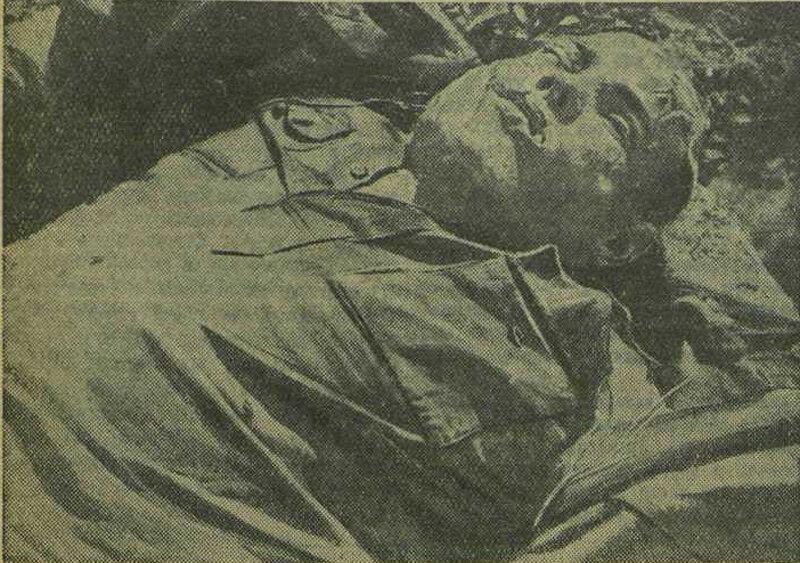 Трупы красноармейцев, зверски замученных фашистскими палачами на острове Хортица