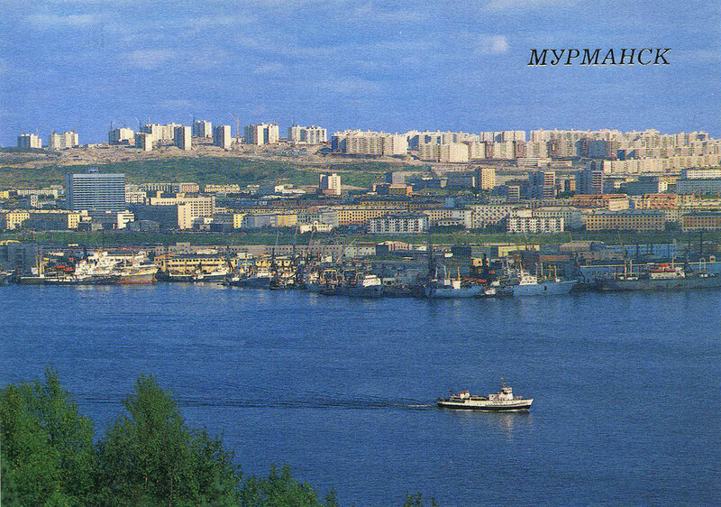 Мурманск. Вид на город со стороны Кольского залива.
