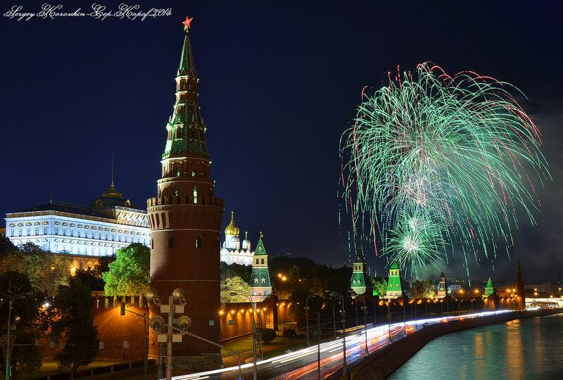 Салют на открытие фестиваля Спасская Башня 2014 №4