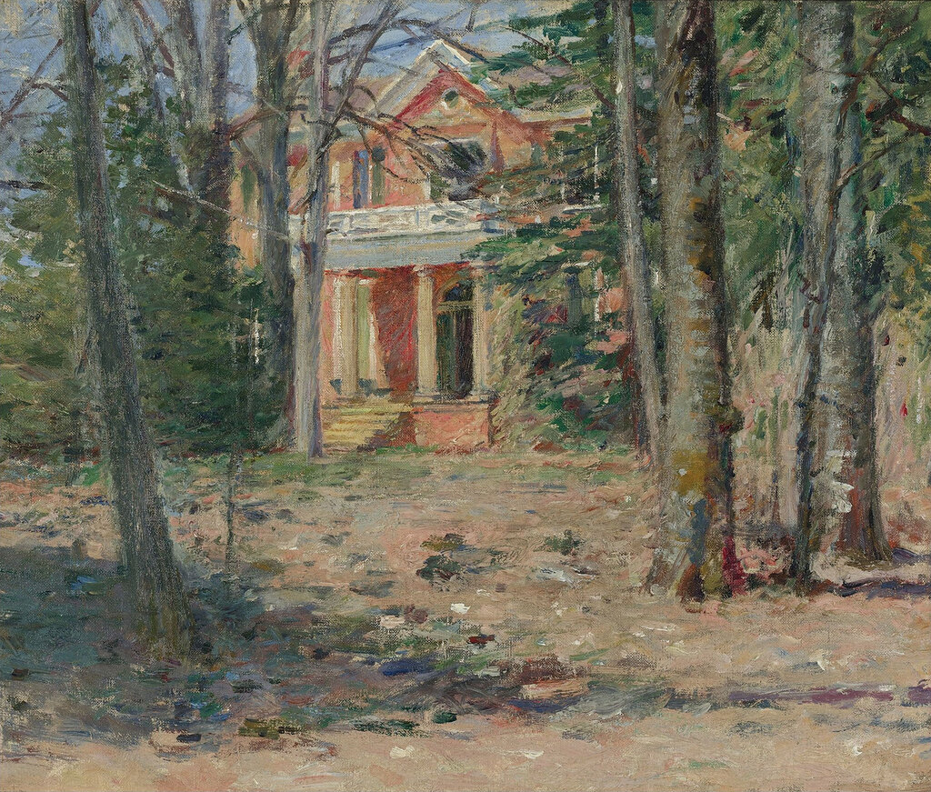 Theodore Robinson - House in Virginia (Castle Hill), 1893.jpeg