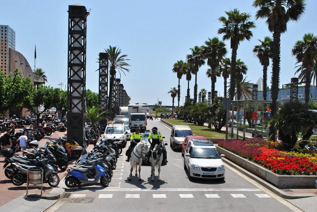 Nas ruas de Barcelona