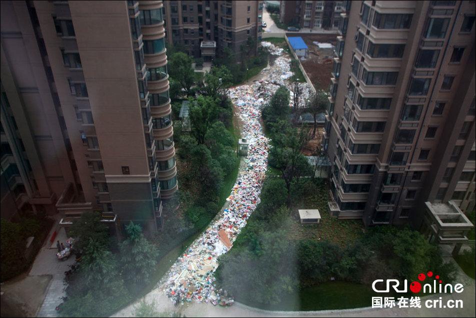 мусор в городе сиянь