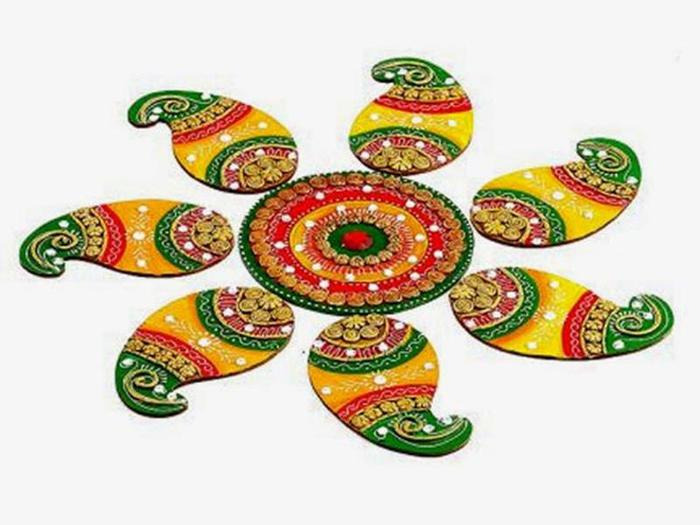 Удивительный индийский орнамент: 100 картин ранголи