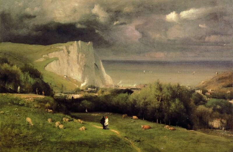 Étretat, oil on canvas, 1875