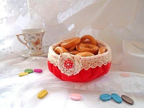 Мастер-класс: шьем круглую сухарницу за 30 минут