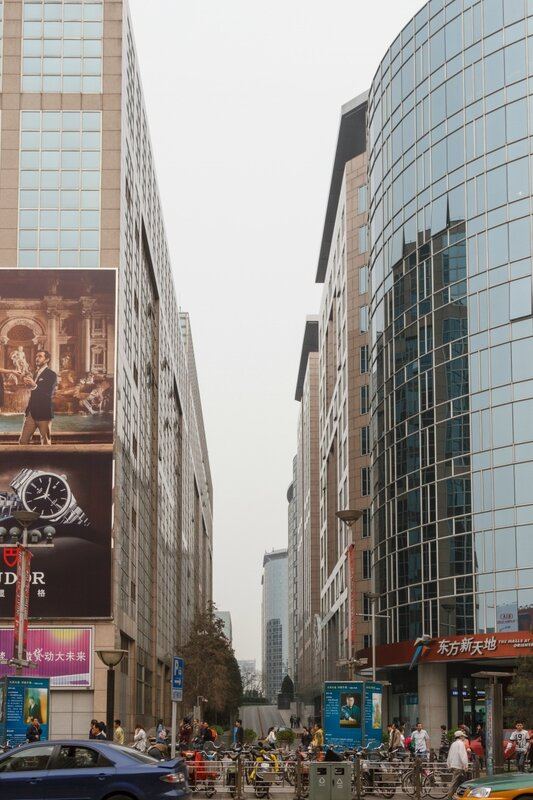 Переулок рядом с Oriental Plaza, улица Ванфуцзин, Пекин