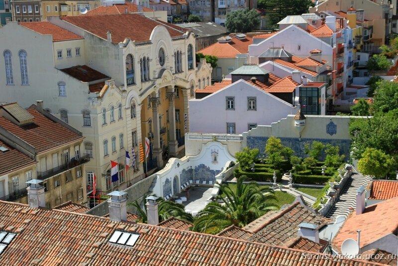 Вид на Лиссабон со смотровой монастыря Святого Висенти