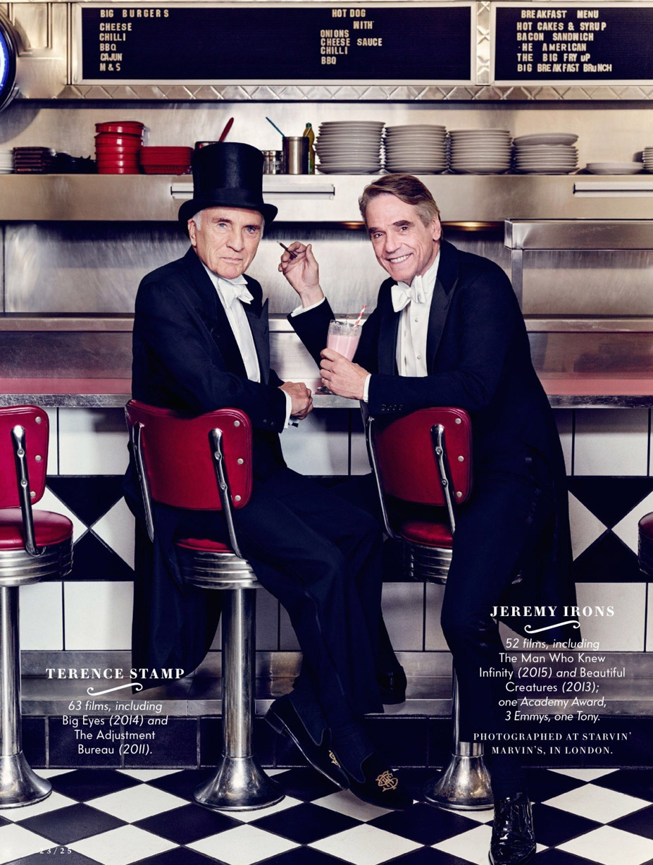 Лучшие британские актеры в проекте The 2015 Hollywood Portfolio by Jason Bell in Vanity Fair march 2015 - Теренс Стэмп и Джереми Айронс / Terence Stamp and Jeremy Irons