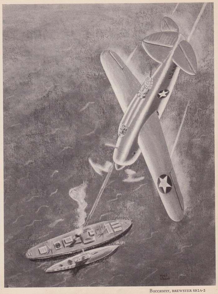 Brewster SB2A Buccaneer - самолет-разведчик и бомбардировщик