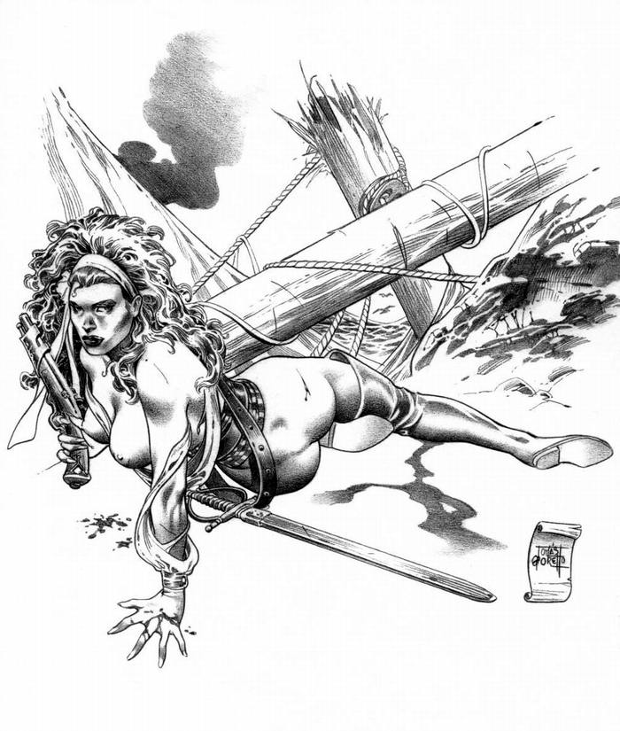 Графика: истории из жизни девушек - пираток (35)