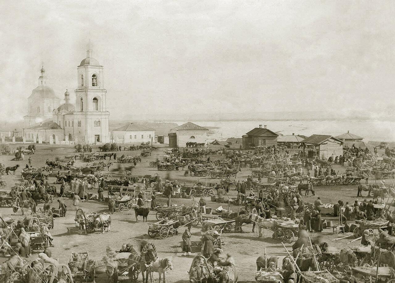 Старобазарная площадь. Конец 80-х н. 90-х г. ХIХ века