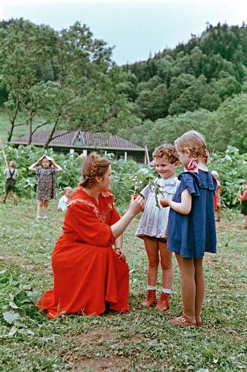 В детском летнем лагере
