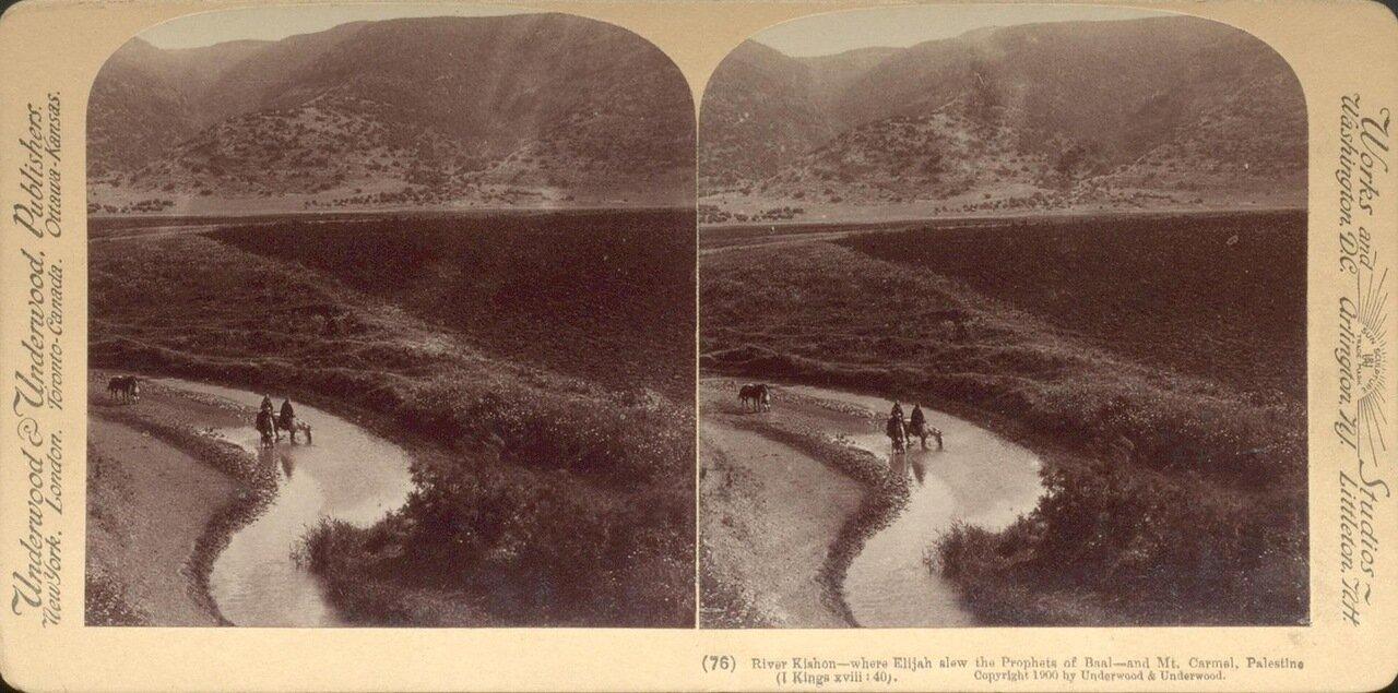 Река Кишон и гора Кармель. 1900