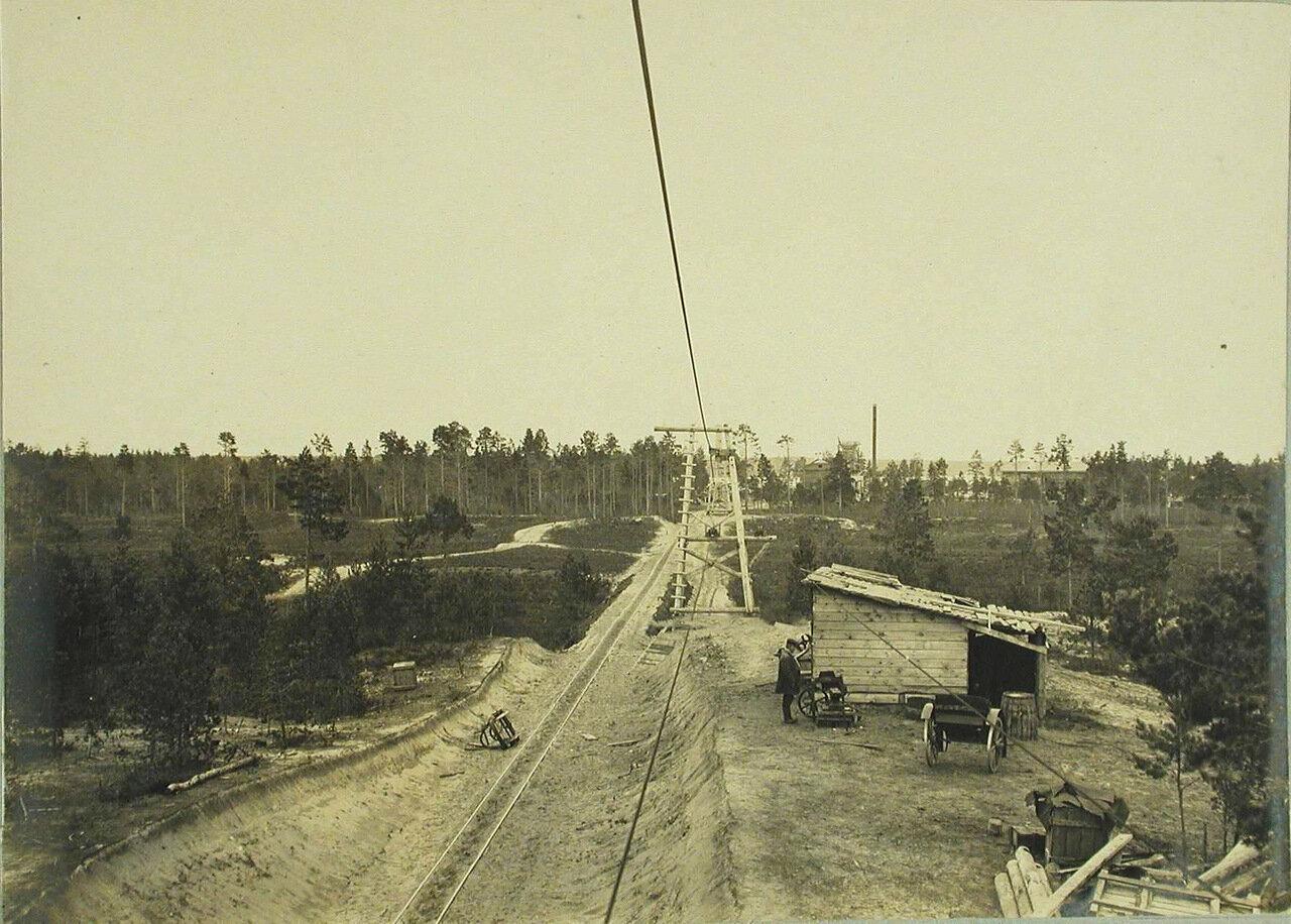 08. Вид одного из участков строительства подвесной дороги